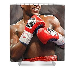 Floyd Mayweather Artwork Shower Curtain