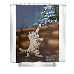 Fluff And Flutter Shower Curtain