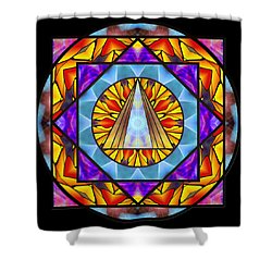 Fluid Transformation Shower Curtain