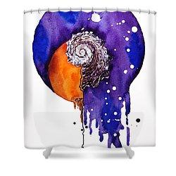 Fluidity 16 - Mollusc Shell - Elena Yakubovich Shower Curtain by Elena Yakubovich