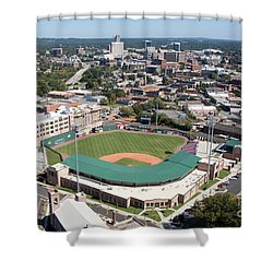 Fluor Field At The West End Greenville Shower Curtain by Bill Cobb