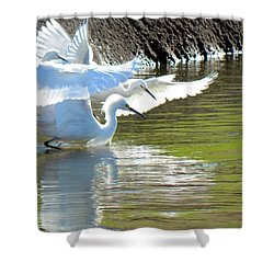 Shower Curtain featuring the photograph Flurry by Deb Halloran