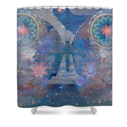 Flutterby Meditation Shower Curtain