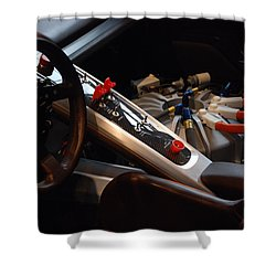 Shower Curtain featuring the photograph Flux Capacitor by John Schneider