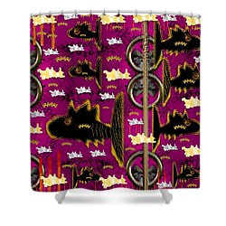 Fly Fish Pop Art Shower Curtain by Pepita Selles