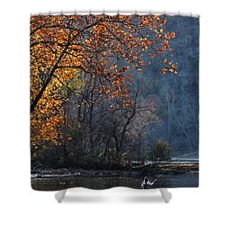 Shower Curtain featuring the photograph Fly Fisherwoman by Denise Romano