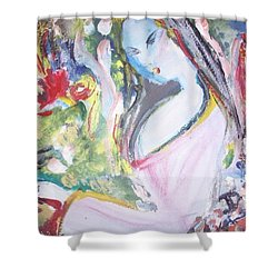 Fly Free Shower Curtain by Judith Desrosiers