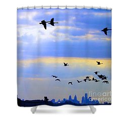Fly Like The Wind Shower Curtain by Robyn King