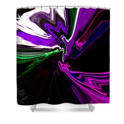 Purple Rain Homage To Prince Original Abstract Art Painting Shower Curtain by RjFxx at beautifullart com