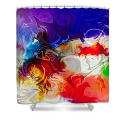 Shower Curtain featuring the painting Fly With Me by Omaste Witkowski