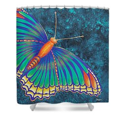 Shower Curtain featuring the painting Fly With Me by Susan DeLain