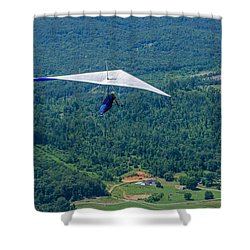 Shower Curtain featuring the photograph Flyin High by Susan  McMenamin