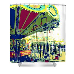 Flying Chairs Shower Curtain by Valerie Reeves