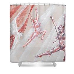 Flying Dancers  Shower Curtain by Irina Sztukowski