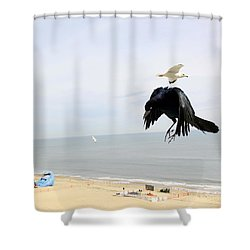 Flying Evil With Bad Intentions Shower Curtain