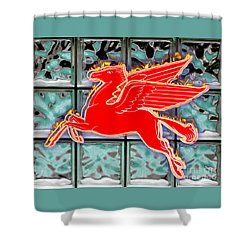 Flying Fire Horse Shower Curtain by Keith Dillon