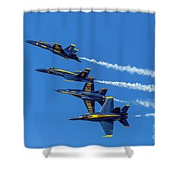 Shower Curtain featuring the photograph Flying Formation by Kate Brown