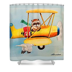 Flying Friends Shower Curtain by LeAnne Sowa
