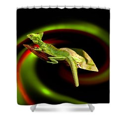 Flying Gekko Shower Curtain