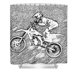Flying High Shower Curtain by Karol Livote