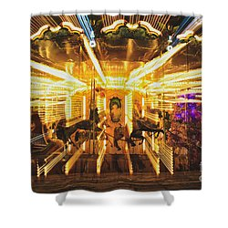 Flying Horses Carousel  Shower Curtain