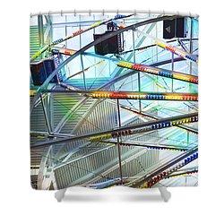 Flying Inside Ferris Wheel Shower Curtain by Luther Fine Art