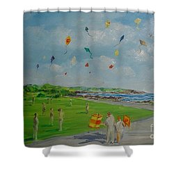 Flying Kites Newport Ri Shower Curtain