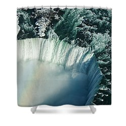 Flying Over Icy Niagara Falls Shower Curtain