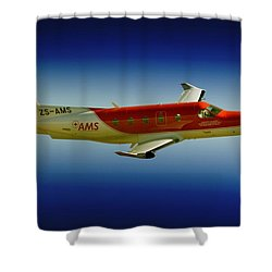 Flying Shower Curtain by Paul Job