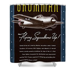 Grumman Flying Squadrons Up Shower Curtain