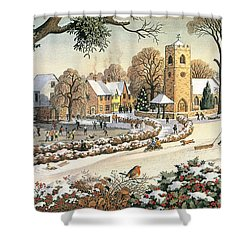 Focus On Christmas Time Shower Curtain by Ronald Lampitt