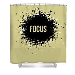 Focus Poster Grey Shower Curtain