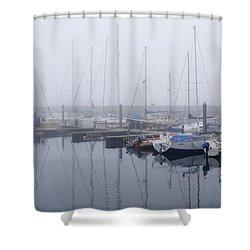 Fog In Marina I Shower Curtain