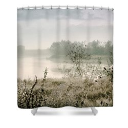 Fog Over The River. Stirling. Scotland Shower Curtain by Jenny Rainbow
