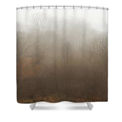Fog Riverside Park Shower Curtain by Scott Norris