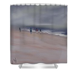 Fog On Folly Field Beach Shower Curtain