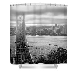 Foggy City Of San Francisco Shower Curtain