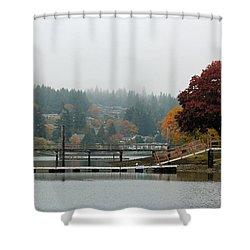 Foggy Day In October Shower Curtain by E Faithe Lester