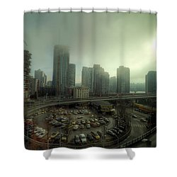 Foggy Downtown Vancouver Shower Curtain by Eti Reid