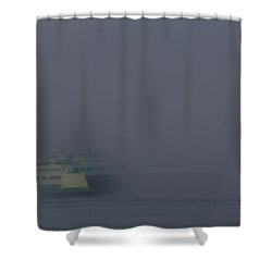 Foggy Ferry Ride Shower Curtain by Charlie Duncan