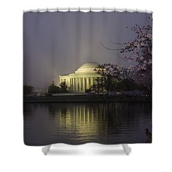 Foggy Morning At The Jefferson Memorial 1 Shower Curtain