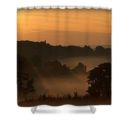Foggy Morning At Valley Forge Shower Curtain
