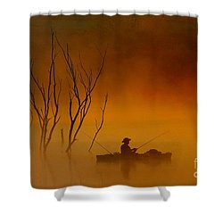 Foggy Morning Fisherman Shower Curtain