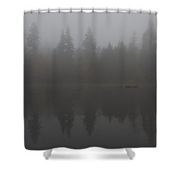 Foggy Morning On The Lake Shower Curtain