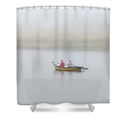 Foggy Nestucca Shower Curtain by Mike  Dawson