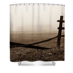 Foggy Pasture Shower Curtain