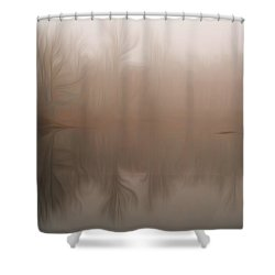 Foggy Reflection Shower Curtain