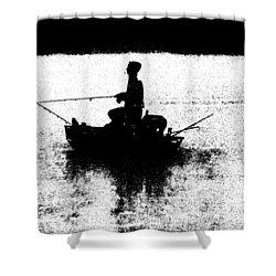 Foggy River Dawn Shower Curtain
