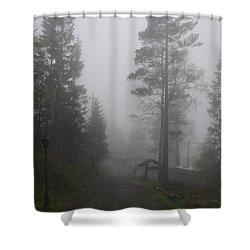 Foggy Romance 1 Shower Curtain