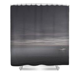 Foggy Stillness Shower Curtain by Lourry Legarde
